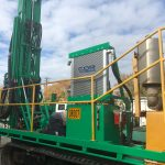 Drill rig cooling h-e parts