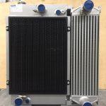 COR Cooling radiator with sandblast screen H-E Parts