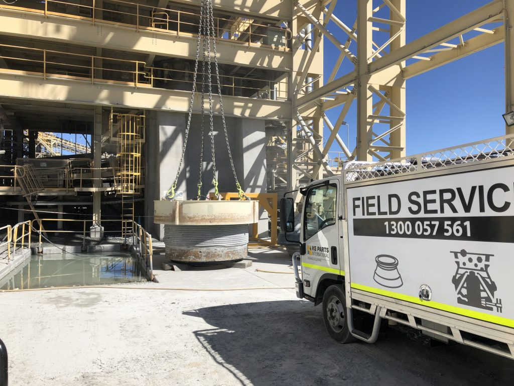 H-E Parts on site service crushing mineral processing