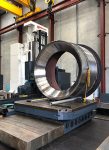 H-E Parts Engineering Floor Borer machining crushing assembly