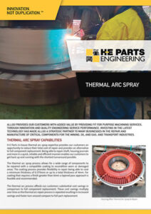 H-E Parts Engineering Thermal Arc Spray Flyer